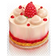 Creamy Cake with Raspberry - GraphicRiver Item for Sale