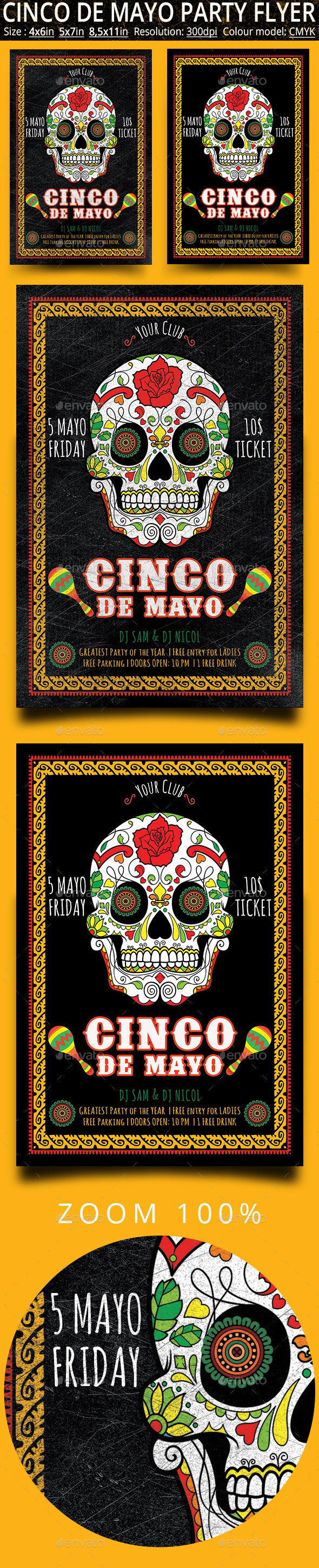 Cinco de Mayo Flyer And Poster - Events Flyers