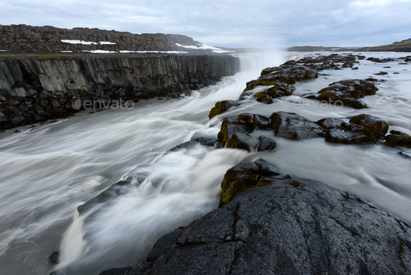 Famous Selfoss waterfall - Stock Photo - Images