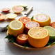 Mix of different citrus fruits closeup - PhotoDune Item for Sale