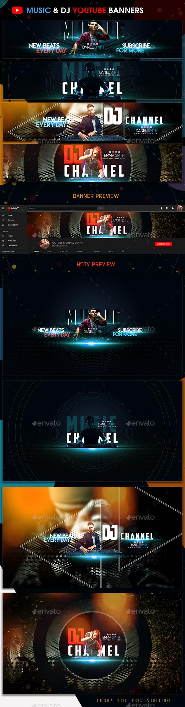 Music & DJ YouTube Banners - YouTube Social Media