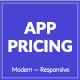 App Pricing - Modern & Responsive Pricing Tables