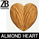 Heart shaped almond