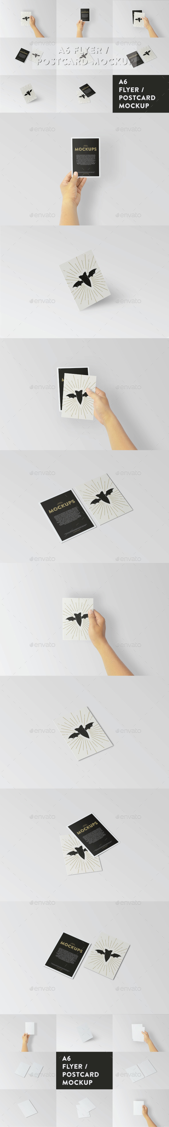 A6 Flyer / Postcard Mock-Up - Brochures Print