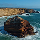 Drone View of Rocky Coast in Algarve Region, Portugal - VideoHive Item for Sale