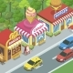 Street with Food Shops - GraphicRiver Item for Sale