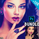 Painting  Retouching Photoshop Action Bundle