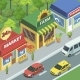 Town Street with Small Shops - GraphicRiver Item for Sale