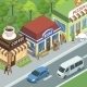 Town Street with Stores - GraphicRiver Item for Sale