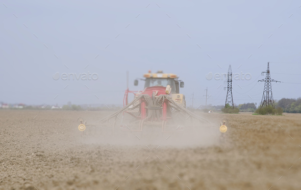 farmer seeding - Stock Photo - Images