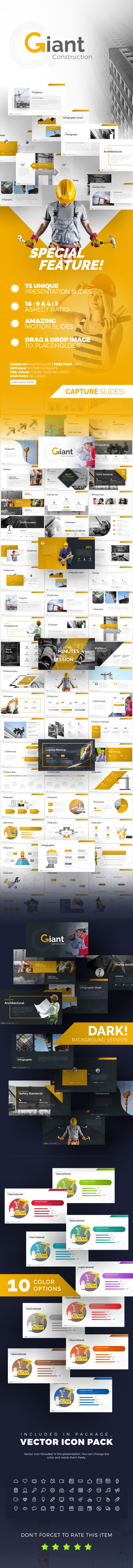 Giant Construction PowerPoint Presentation Template - PowerPoint Templates Presentation Templates