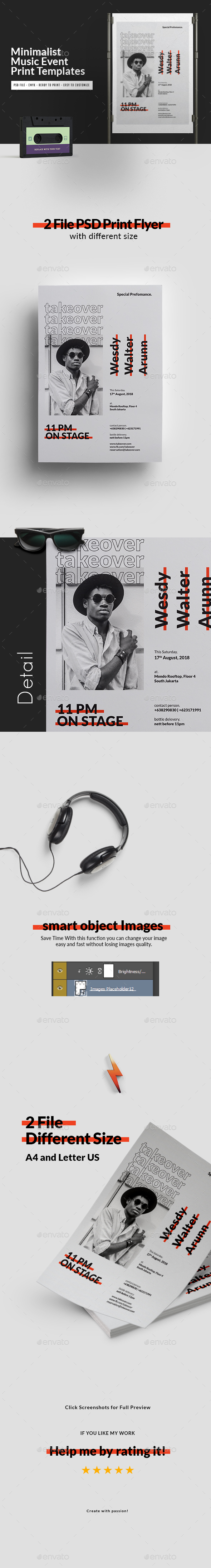 Minimalist Music Event Flyer Templates - Events Flyers