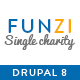 Funzi - Single Charity | Crowdfunding | Nonprofit Responsive Drupal 8.5 Theme