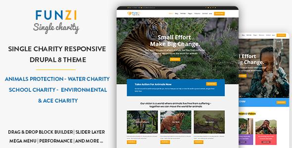 Image of Funzi - Single Charity | Crowdfunding | Nonprofit Responsive Drupal 8.5 Theme
