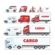 Cargo Truck Vector Van or Minivan Car for Delivery - GraphicRiver Item for Sale