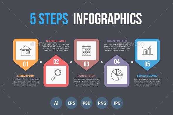 Five Steps Infographics - Infographics