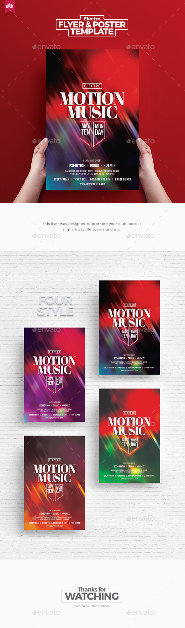 Motion Music - Electro Flyer - Clubs & Parties Events
