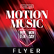 Motion Music - Electro Flyer - GraphicRiver Item for Sale