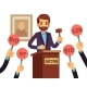 Auction with Man - GraphicRiver Item for Sale