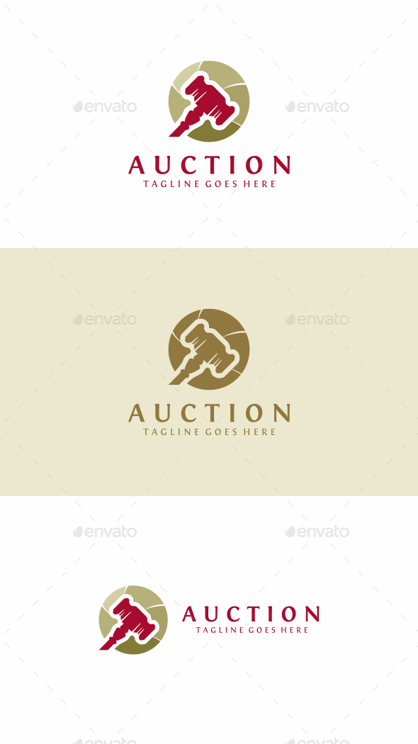 Auction - Objects Logo Templates