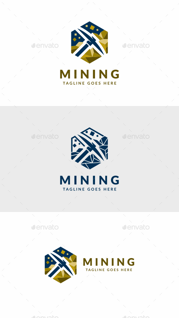Gold Mining - Objects Logo Templates