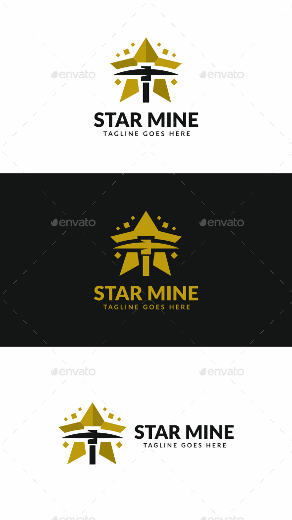 Star Mining - Objects Logo Templates