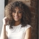 Portrait of a Curly Hispanic Girl. Portrait of a Girl with a Multi-ethnic Appearance. - VideoHive Item for Sale