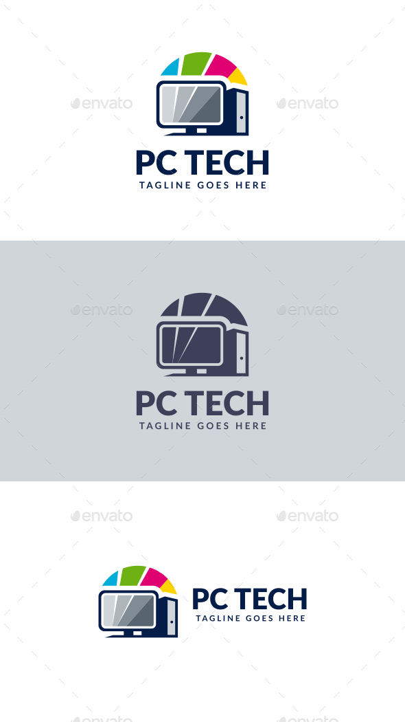 PC Shop - Objects Logo Templates