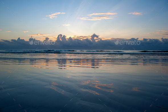 Sunset over sea - Stock Photo - Images