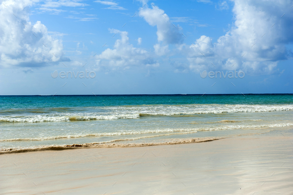 Summer beach and ocean - Stock Photo - Images