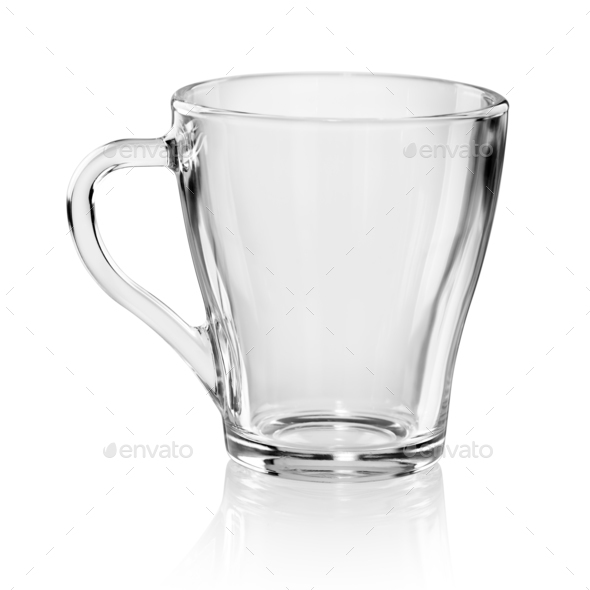 Transparent cup isolated - Stock Photo - Images