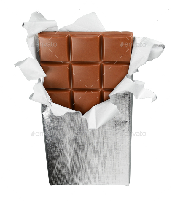 Chocolate bar isolated - Stock Photo - Images