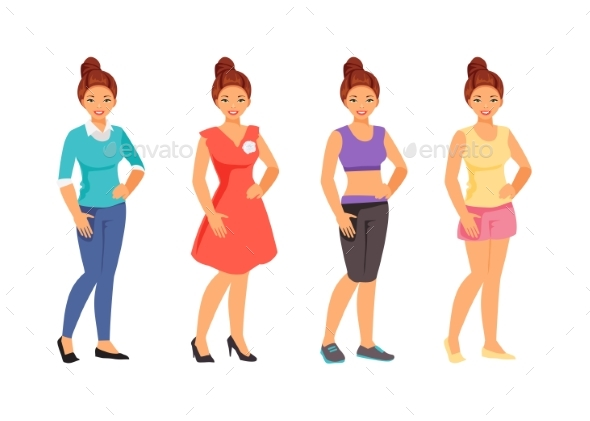 Clothing Styles Vector - People Characters