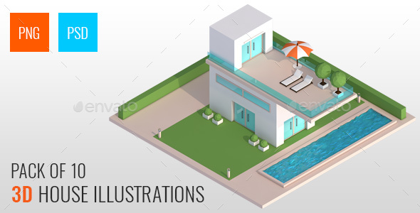 3D Isometric Real Estate Concepts - Architecture 3D Renders