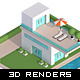 3D Isometric Real Estate Concepts