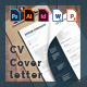 CV + Cover letter Multi Language (Word + Powerpoint + PSD + Vector + Indesign)