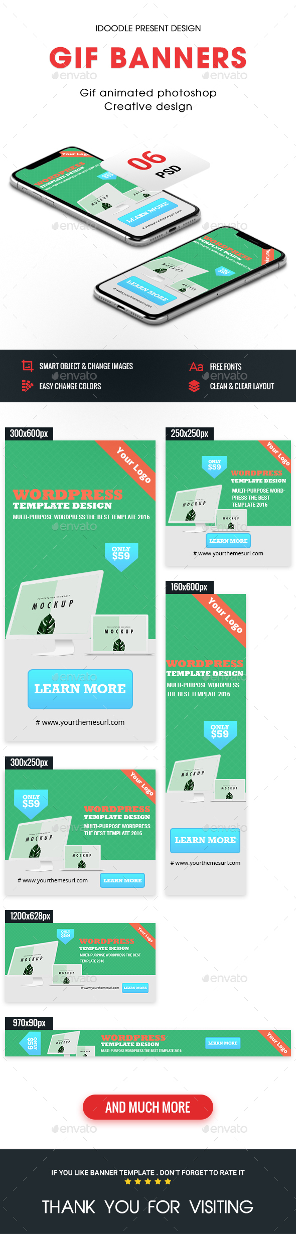 Animated GIF Banner Ads - Web & Graphics Ads - Banners & Ads Web Elements