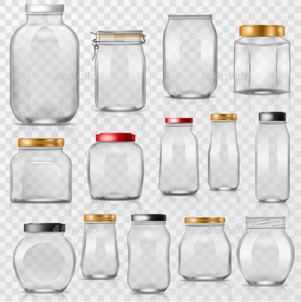 Glass Jars - Objects Vectors
