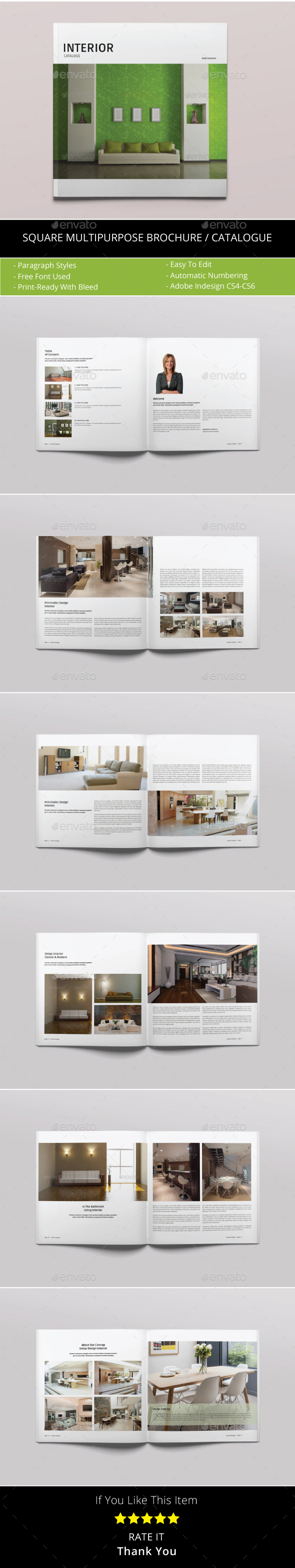 Square Multipurpose Catalogs / Brochure - Catalogs Brochures
