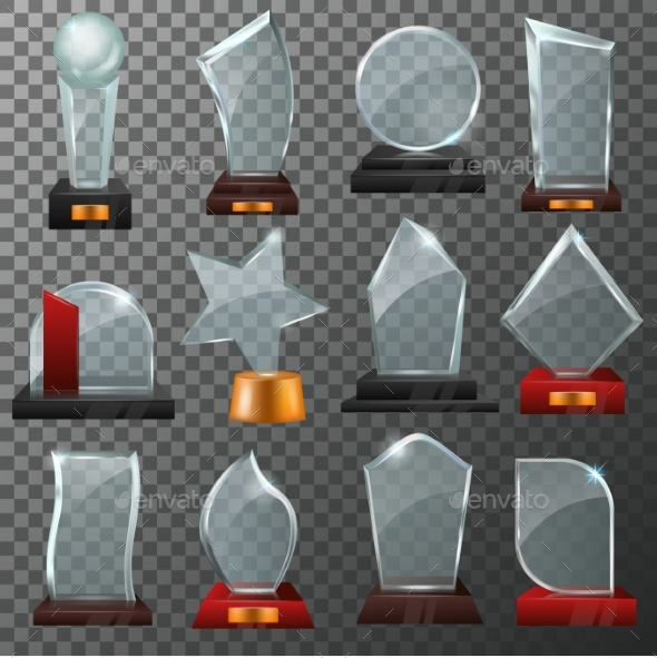 Glass Awards - Miscellaneous Vectors