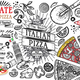 Italian Food Ingredients Pizza Doodle - GraphicRiver Item for Sale