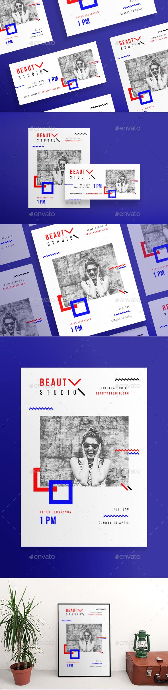 Beauty Studio Flyers - Miscellaneous Events