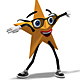 Golden Super Star Mascot - Dancing Samba - VideoHive Item for Sale