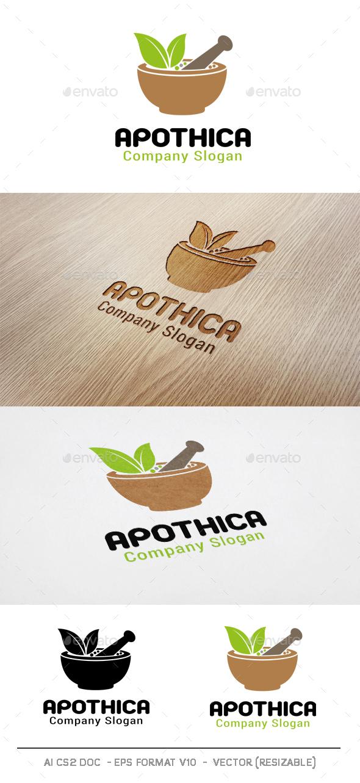 Apothica Logo V2 - Nature Logo Templates