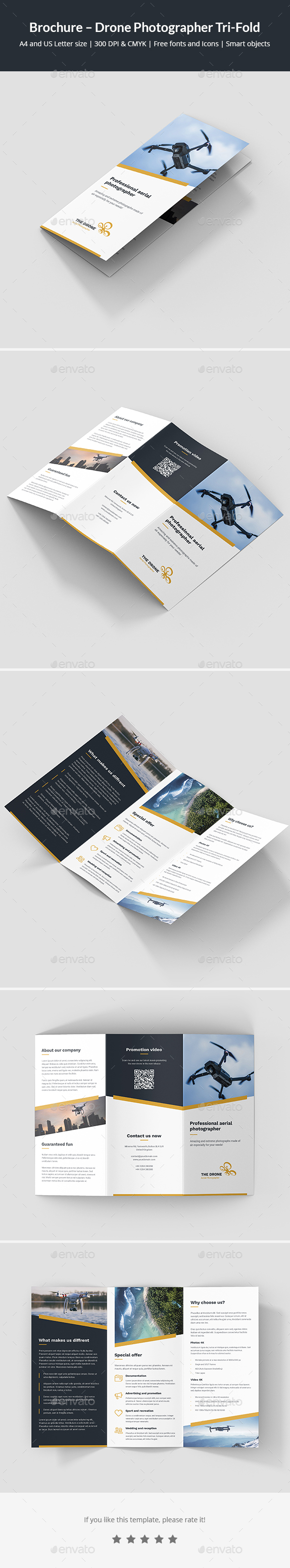 Brochure – Drone Photographer Tri-Fold - Corporate Brochures