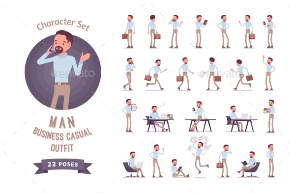Smart Business Casual Man Ready-to-use Character - Business Conceptual