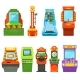 Game Machines. Vector Pictures in Cartoon Style - GraphicRiver Item for Sale