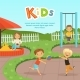 Funny Different Kids Playing on Playground - GraphicRiver Item for Sale
