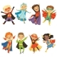 Kids in Superhero Costumes - GraphicRiver Item for Sale
