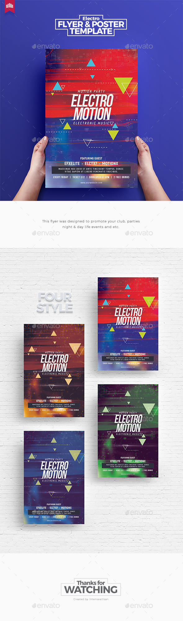 Electro Motion - Flyer Template - Clubs & Parties Events